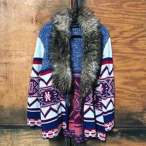 MINKPINK Faux Fur Cardigan